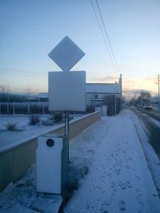 Winter Scene: Ballykea Cross, North County Dublin
