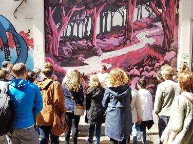 NYU tour of Street Art in Belfast 2017